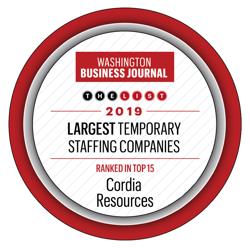 Washington Business Journal Largest Temporary Staffing Companies 2019
